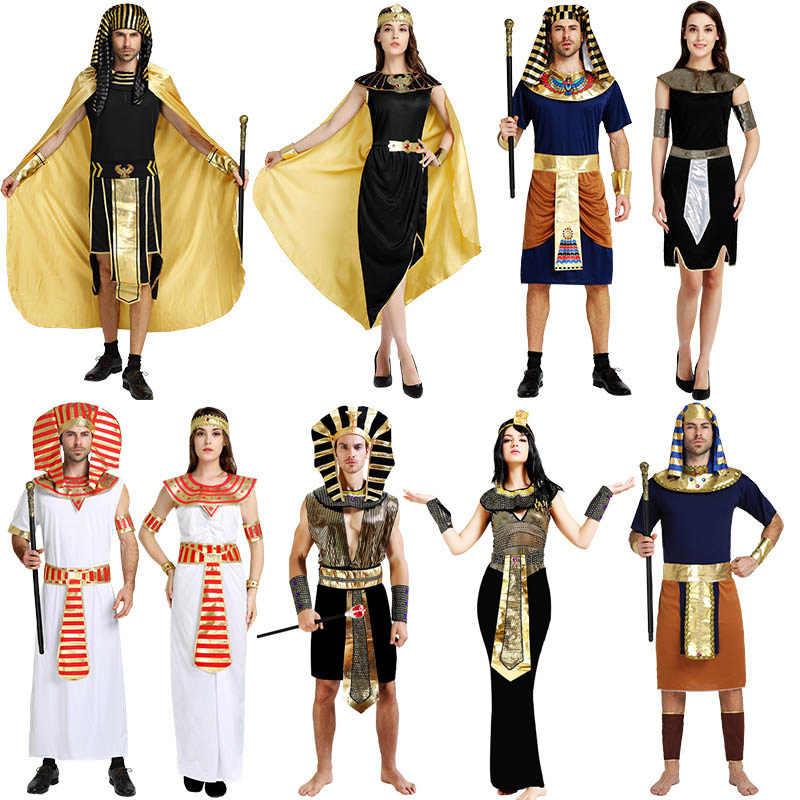 Disfraz De Reina Cleopatra Egipcia Fantasia Para Mujer Ropa De Faraón Antigua Sexy Disfraces Para Hombres Y Mujeres Aliexpress