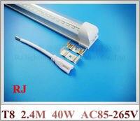 Tube Base Integrated SMD 2835 LED Tube Light Lamp Fluorescent Tube T8 2400mm 2 4M