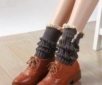button down Lace Boot Cuffs knit boot topper lace trim faux legwarmers lace cuff shark tank leg warmers 12 pairs/lot#3993