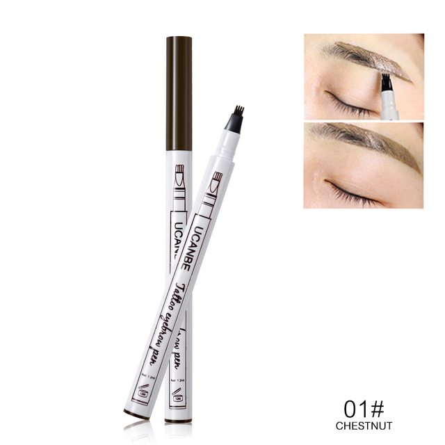 UCANBE Cosmetics Fine Sketch Liquid Eyebrow Pencil Makeup Waterproof Durable Tattoo Smudge-proof Eye Brow Pen 3