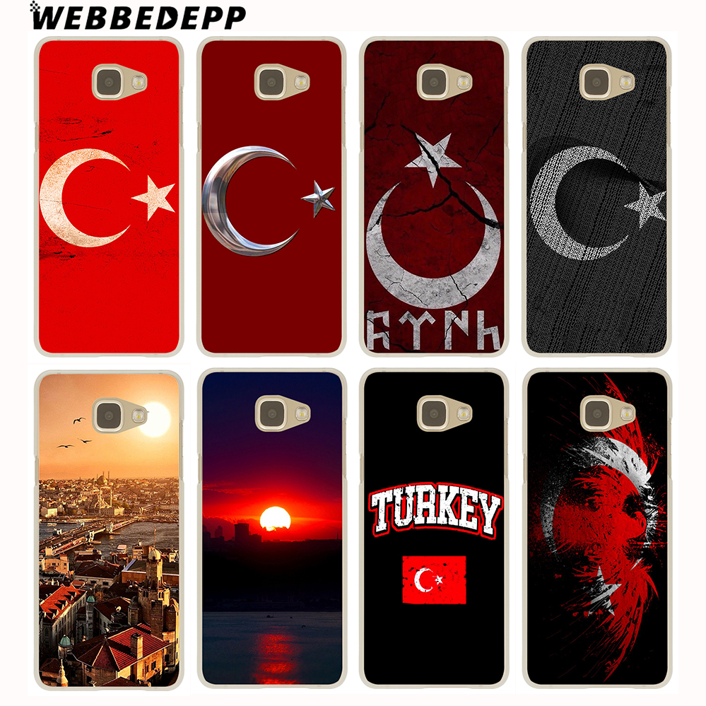 WEBBEDEPP Typography Flag of Turkey Antalya Case for Galaxy A3 A5 A7 A8 2015/2016/2017/2018 Grand Prime Note 8 5 4 3 2