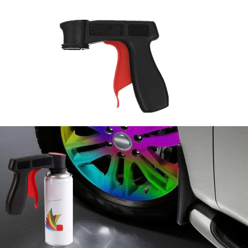 Auto Car Polishing Paint Care Aerosol Spray Gun Handle With Full Grip Trigger Locking Collar Car Maintenance Tool