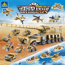 Tank Building Blocks 544pcs Bricks Military Vehicles Compatible Legoe Weapons Brinquedo Menina Toys for Children 16 In 1 цена в Москве и Питере