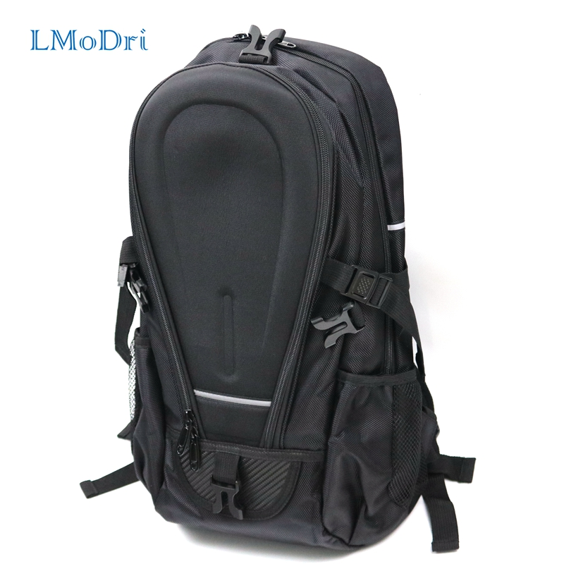 купить LMoDri Black Motorcycle Bag Waterproof Riding Backpack Touring Luggage Bag Motorbike Helmet Bags Moto недорого