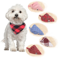pets-winter-dog-bandanas-cotton-plaid-washable-pet-bandanas-scarf-bow-ties-collar-cat-samll-middle-large-dog-grooming-products