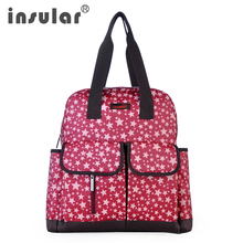 Insular Multifunctional Baby Diaper Bag Backpacks Mommy Bag Women Backpack durability waterproof maternity mother nappy bag high level canvas colorful mommy diaper bag baby nappy bags maternity mommy women backpack handbag messenger three in one bag