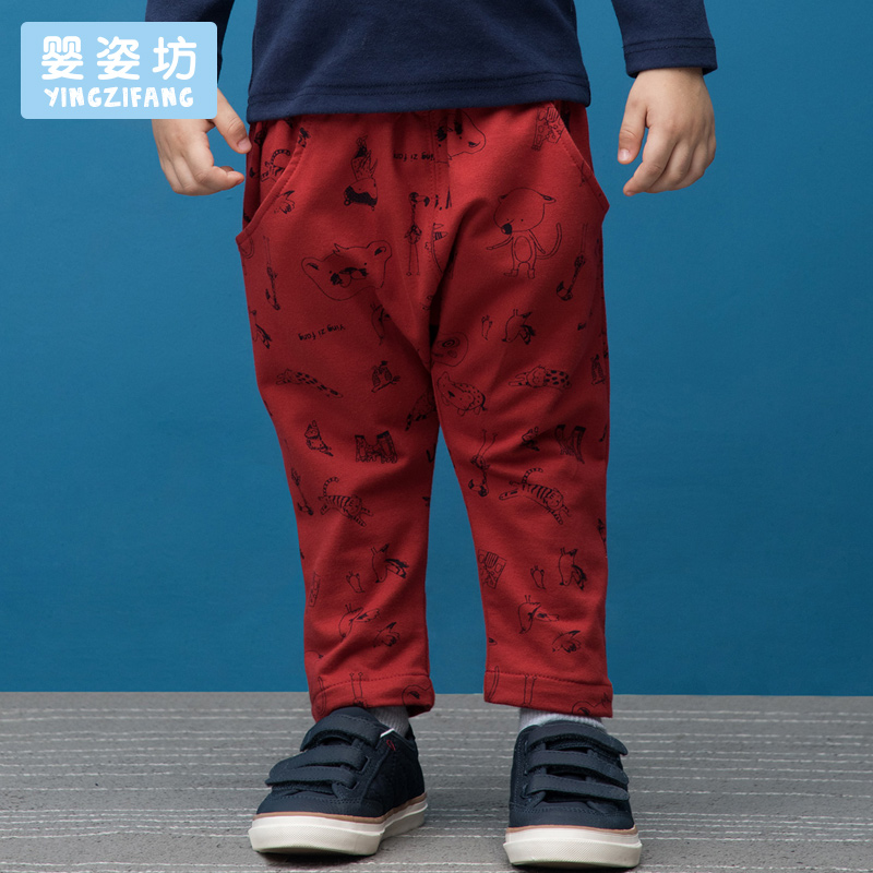 New Arrival Hot Sale Boys Straight Mid Full Length Yingzifang Boys' kids Pants Cotton trousers In All Over Pattern Printed цены онлайн