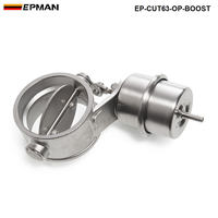 NEW Boost Activated Exhaust Cutout / Dump 63MM Open Style Pressure: about 1 BAR For BMW e60 EP-CUT63-OP-BOOST