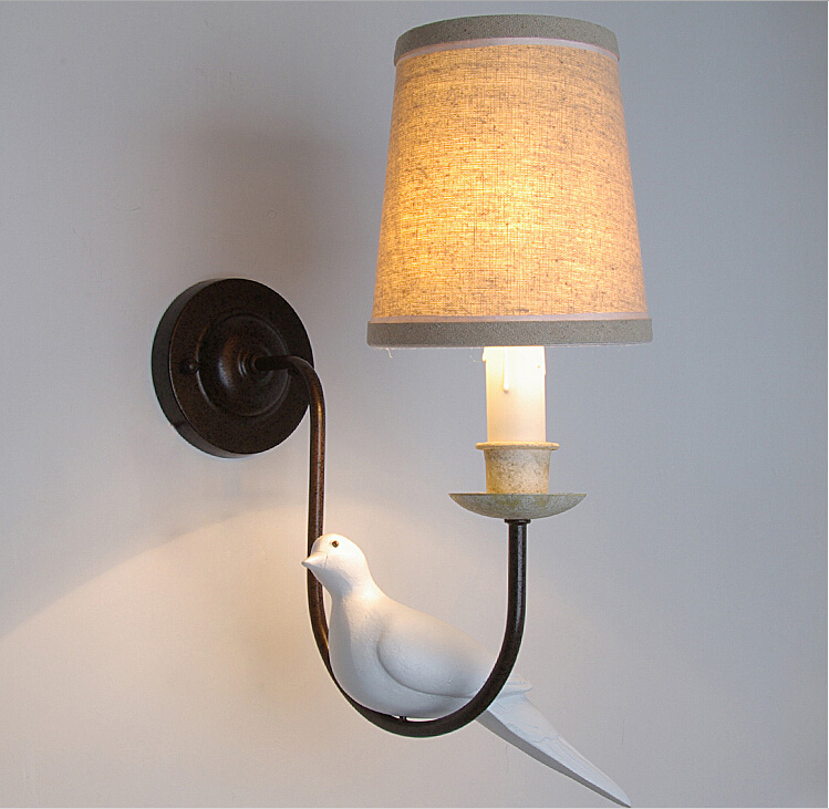 American country vintage wall lights fixtures led sconces for Wall light with reading light