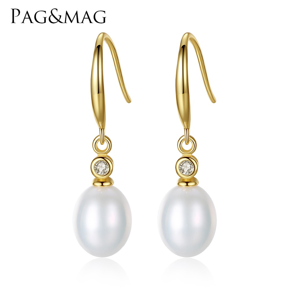 PAG MAG Brand Classic Fine font b Jewelry b font Freshwater Natural Pearl S925 Silver font