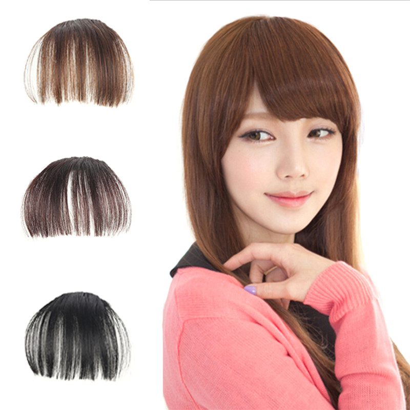 Hair Styling Accessory False Hair Bangs Fake Hair Extension Pieces