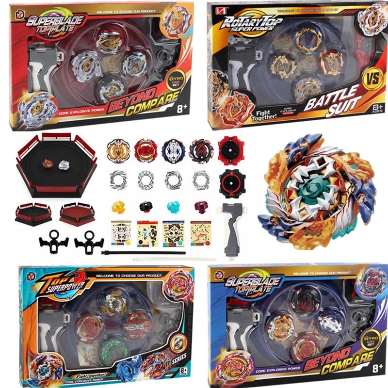 New Beyblade Set burst Toupie Bayblades Metal Fusion Black bables Fafnir Box bey blade Launcher Bey blade For Childn Toys beyblade set