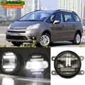 eeMrke Car Styling For Citroen C4 PICASSO 2006- up 2 in 1 Multifunction LED Fog Lights DRL With Lens Daytime Running Lights