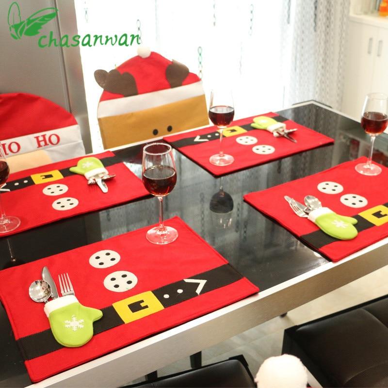 1 piezas decoraciones navideñas decoración del hogar manteles - Para fiestas y celebraciones - foto 1