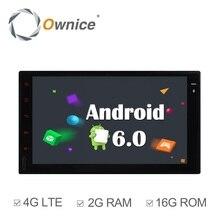 Ownice C500 Android6.0 2G RAM 1024*600 2 DIN coche universal gps estéreo del coche de radio del Jugador de la Ayuda 4G SIM LTE Red DAB + NO DVD