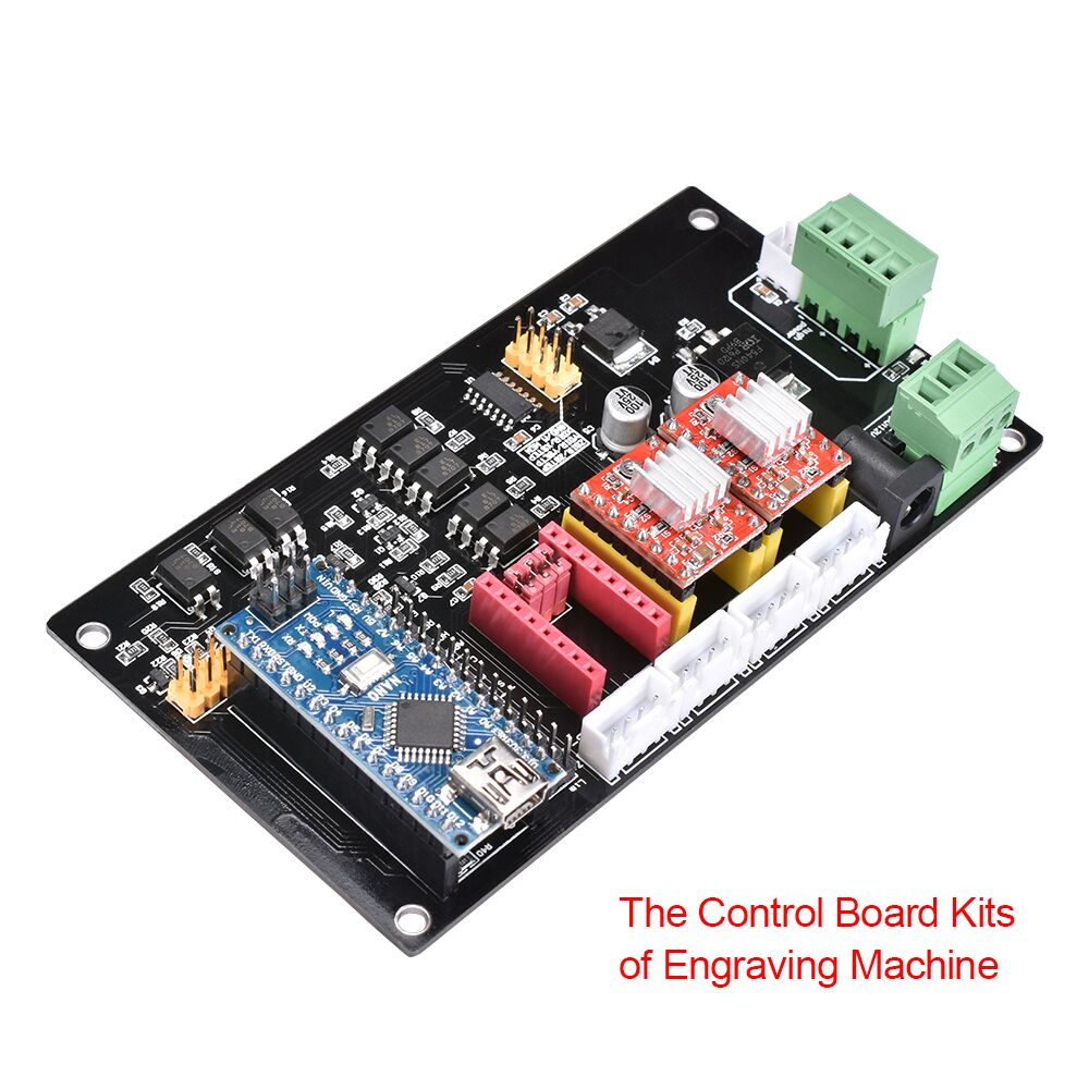 CNC 3 Axis Engraving Electronic Control Panel A4988 Stepper Motor Driver Nano Controller Motherboard For Laser Engrave Machine
