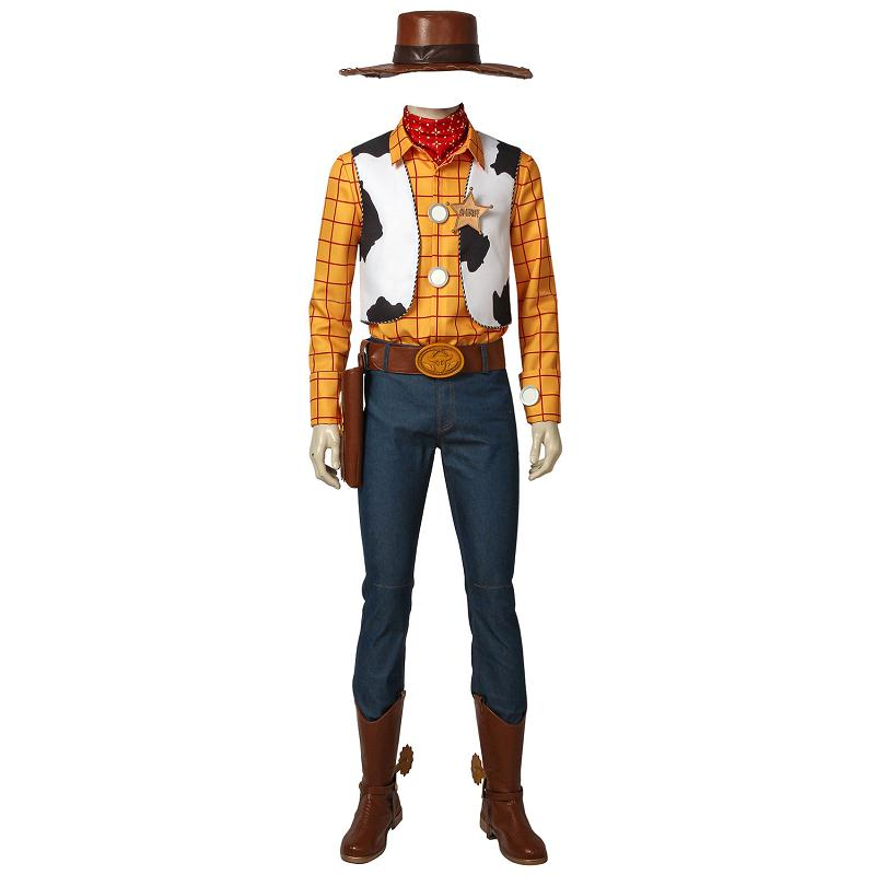 Toy Story Woody Cosplay Costume Cowboy Mascot Costume Outfit Adult Men Halloween Party Full Set With Props Custom Made