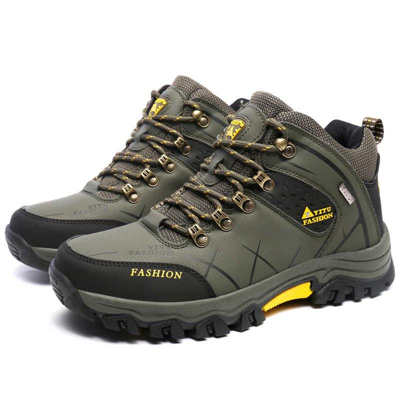 Inverno Degli Uomini di Scarpe Da Trekking Moda Autunno Caldo scarpe Da Trekking di Montagna Scarpe Da Arrampicata All'aperto Degli Uomini di Sport Scarpe Da Trekking Impermeabile