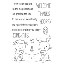 Lovely Cartoon Transparent Clear Silicone Stamp/Seal for DIY scrapbooking/photo Album Decorative Clear Stamp New