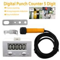 Elettronico Contatore 5 Cifre Contatore Elettronico di prossimità Industriale Interruttore Magnetico Del Sensore Digitale Punch Contatore-in Contatori da Attrezzi su