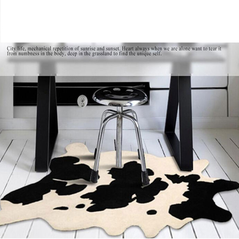 Fashion 90x120cm Dairy Cow Pattern Creative For Bedroom Carpet Living Room  Coffee Table Bedside Blanket Cushion Sofa Earth  In Carpet From Home U0026  Garden On ...