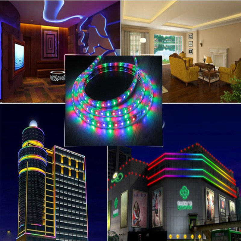 RGB Led Strip 5050 Waterproof Led Verlichting Neon Light and 110V ...