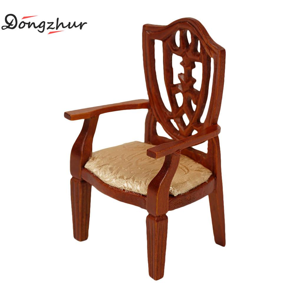 Genial Dongzhur New 1:12 Dollhouse Mini Wooden Chair Model Brown Furniture  European Solid Wood Armchair Bedroom Furniture Set WWP5941 In Dolls  Accessories From ...
