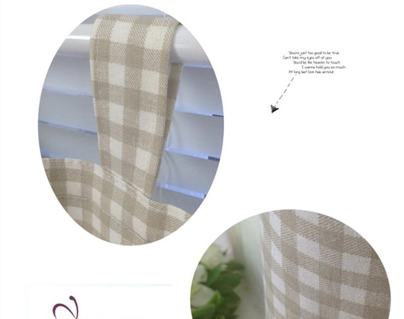 Xyzls nieuwe plaid katoen linnen keuken gordijnen blinds cafe