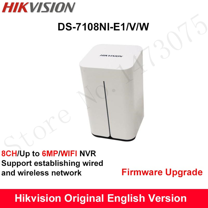 In Stock Hikvision Embedded 8ch Wireless NVR DS-7108NI-E1/V/W 8ch 1080P WiFi Network Video Recorder Onvif Support up to 6MP dhl free shipping english version ds 7108ni e1 v w embedded mini wifi nvr poe 8ch for up to 6mp network ip camera