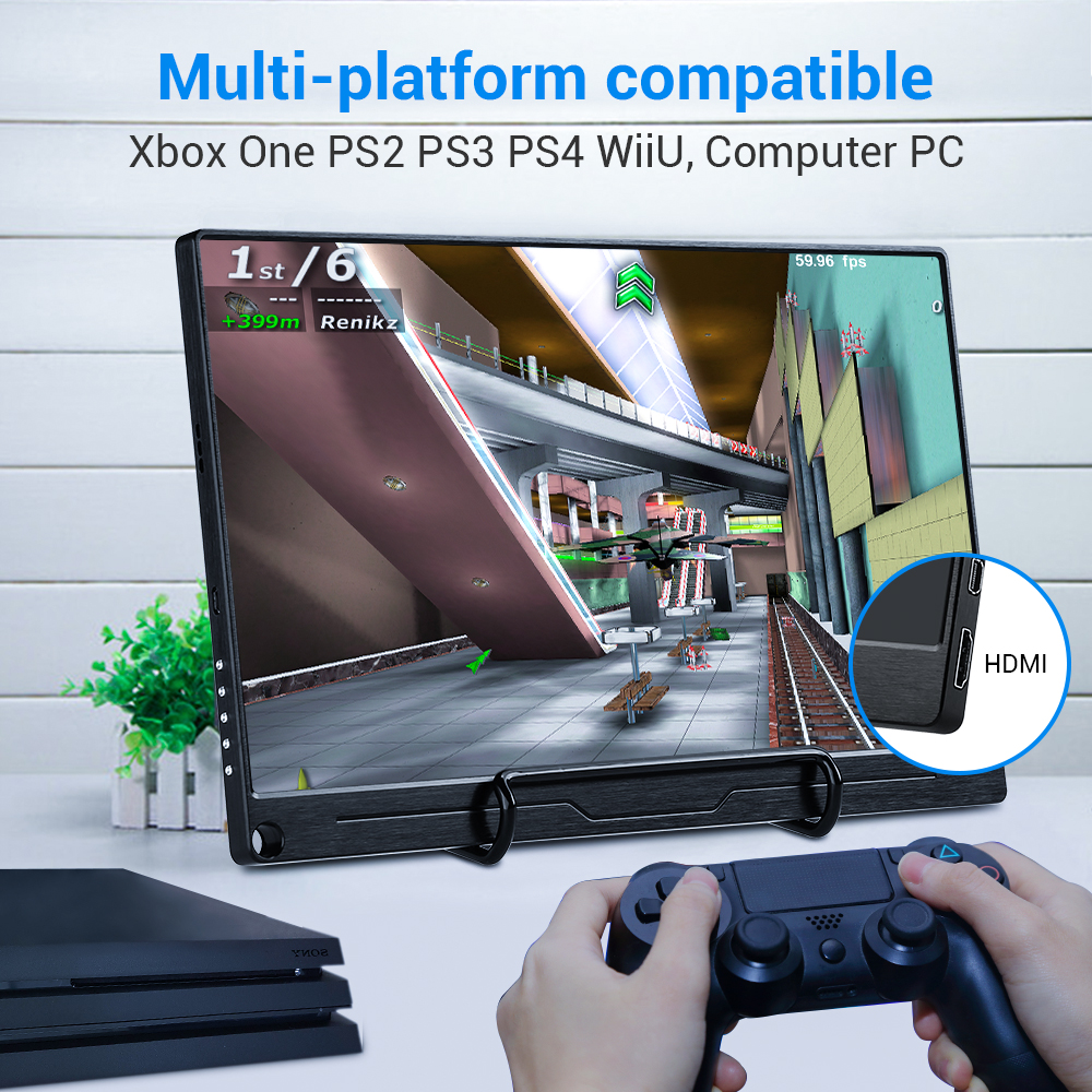"""Image 5 - Eyoyo 13.3"""" FHD 3840 x 2160 4K IPS Gaming Monitor compatible for Game Consoles PS3 PS4 WiiU Switch Raspberry Mini PC ComputerLCD Monitors   -"""