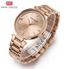 MINIFOCUS Diamond Women Watches Gold Waterproof Lady Watch For Woman Designer Brand Luxury Clock Fashion Womens