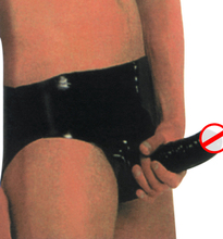 Free shipping !!! Hot selling Latex shorts/briefs with penis condo rubber gummi panties / briefs for adult male