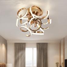 лучшая цена Modern Led Ceiling Lights for Living Room Kitchen Ceiling Lamp with Remote Control Flush Mount Ceiling Light Circular Lamp