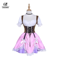 ROLECOS Sexy Oktoberfest Woman Dress Brand Halloween Cosplay Costume Sweet Lolita Costume Maid Anime Cosplay Lace