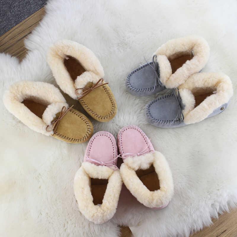 2020 mode 100% cuir de porc + botte en peau de mouton femme bottes de neige hiver cuir laine fourrure bottes de neige dame chaussures chaudes