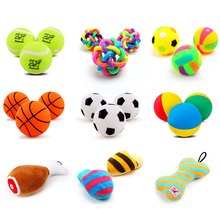 Squeaky rubber dog balls