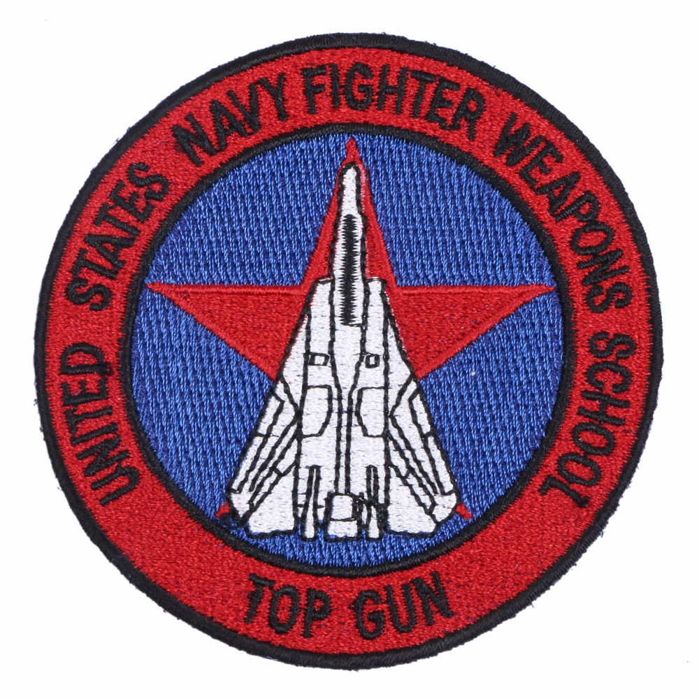 US NAVY WEAPONS SCHOOL TOP GUN SQUADRON EMBROIDERED BADGE PATCH