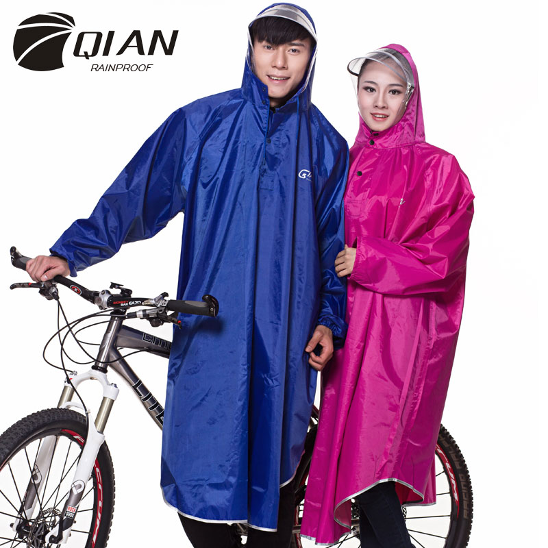 Image 2 - QIAN RAINPROOF Professional Adult Long Thicker Raincoat With 