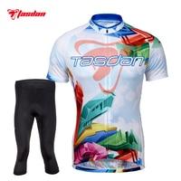Tasdan Cycling Jerseys Sets Men S Short Sleeve Bicycle Jerseys Suit Custom Cycling Jerseys Bib Short