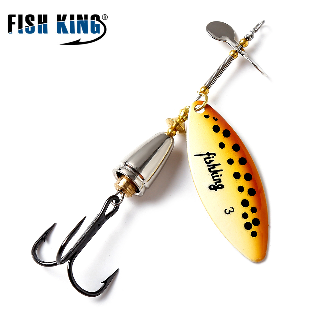 Fish king 10cm 15 mepps long cast deep running spinners for Cheap fishing spinners