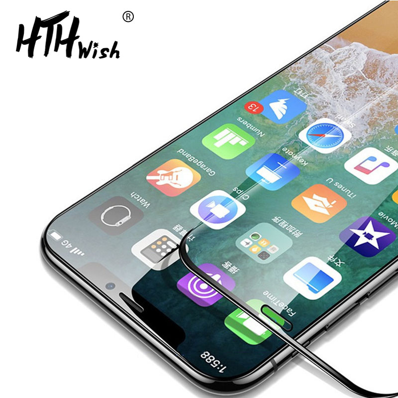 Edgeless Full Coverage for iphone xs max screen protector Boundless on glass XS protector for iphone glass xs max tempered glass in Phone Screen Protectors from Cellphones Telecommunications