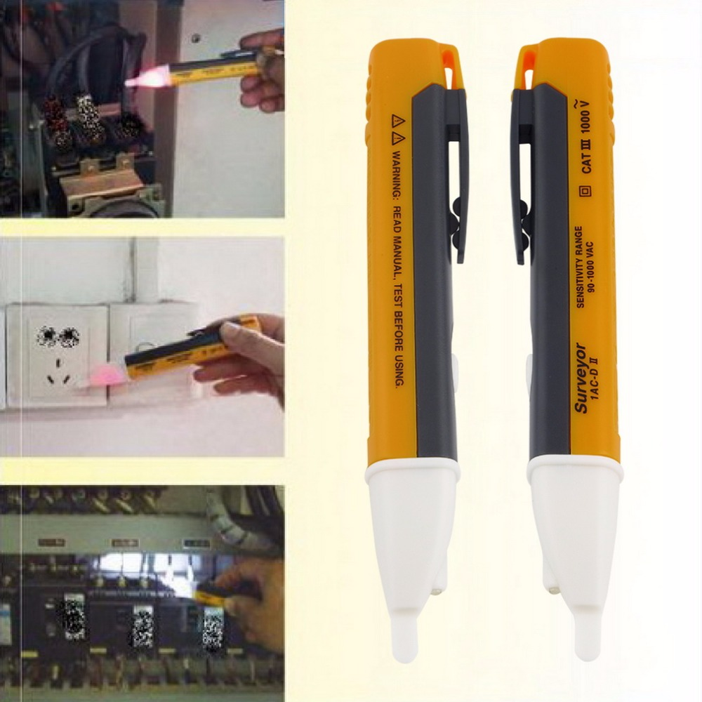 ACEHE Electric Indicator Socket Wall AC 90-1000V Power Outlet Voltage Tester Detector Sensor Volt Test Pen LED Light Indicato factory wholesale 2pcs copper plated hifi ac power bar trip us socket receptacle wall outlet