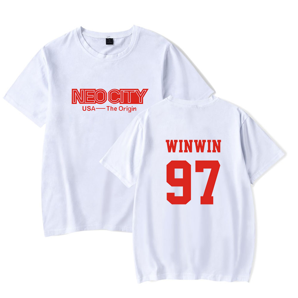 2019 New Men Tshirt Nct 127 Print Leisure Short Sleeve Cotton tshirt Summer Streetwear Women tshirt Homme Hip Hop Tshirt