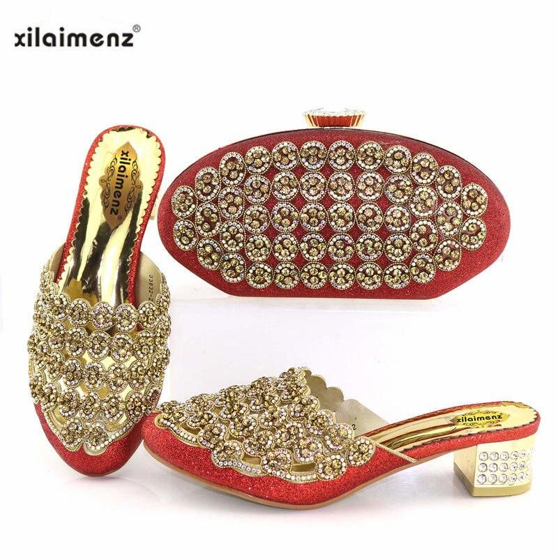 Pantoufle Escarpins Chaussures gold Désignation Dames Avec Black Italiennes Spéciale Remise Nouvelle Nouveautés 40 red Sac blue Strass Décoré Assorties Boutique IpUqIwZz