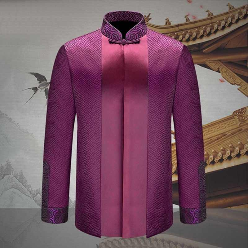 Traditionele chinese kleding voor mannen vrouwen stellen outfit gift mannelijke vrouwelijke tang pak jas draak kostuum TA082