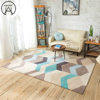 Sofa Geometry Carpeted Floor Blue Foot Pad Tapete Doormat Rectangle Mats Carpet on The Floor Carpet Kids Room Mat In The Hall