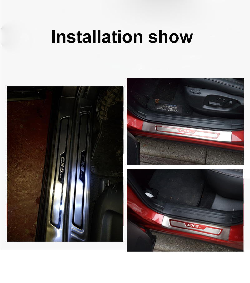Image 4 - For Mazda CX 5 CX5 2017 2018 2019 Car Door Sill Trim Scuff Plate Welcome Pedal Protector Cover stainless steel enterance Guard-in Chromium Styling from Automobiles & Motorcycles