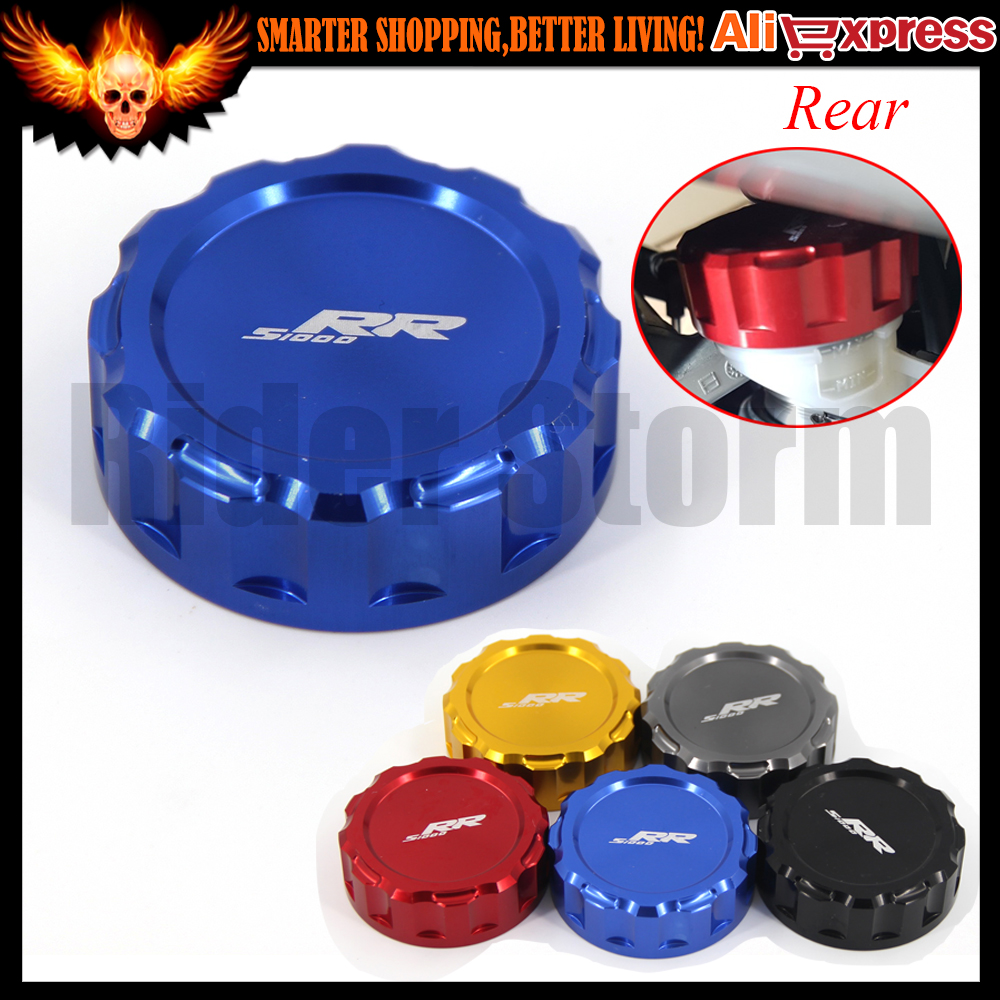 CNC Aluminum Blue Red Black Golden Motorcycle Rear Brake Reservoir Cover Cap For BMW S1000RR 2010 2011 2012 2013 2014 2015 2016 useful bicycle stem cnc aluminum bike headset cover cap 1 1 8 red