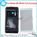 For Nokia N8 Black or Silver, New High Quality Full Complete Mobile Phone housing cover case+Buttons Keypad+Tools, free shipping