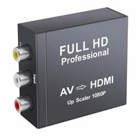 AV to HDMI Converter RCA Composite CVBS AV to HDMI Video Audio Converter Adapter AV2HDMI Adapter Support 720P/1080p in Metal